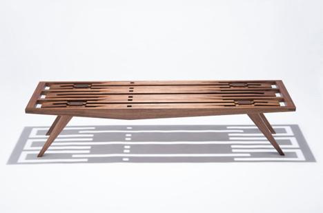 intricate shadow eastside bench