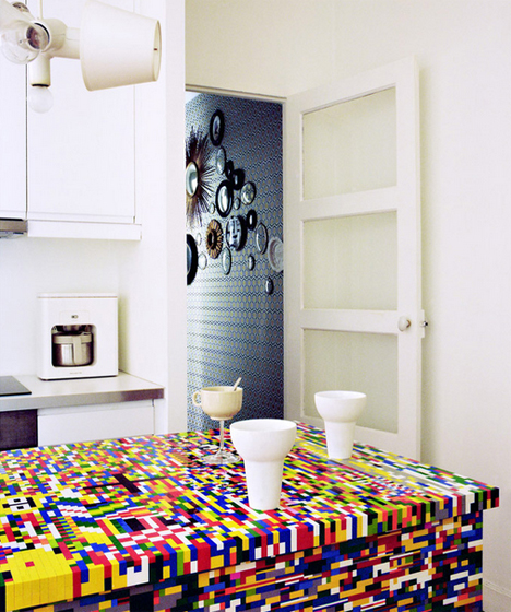 lego covered ikea kitchen island