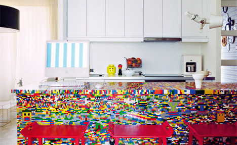 lego covered ikea kitchen table munchausen