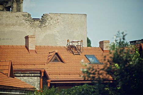 lithuanian designer pitched roof furniture