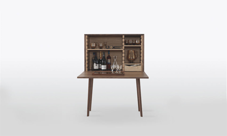 mid century modern home bar