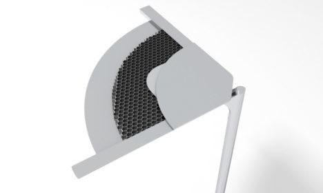 mykon honeycomb aluminum lightweight table