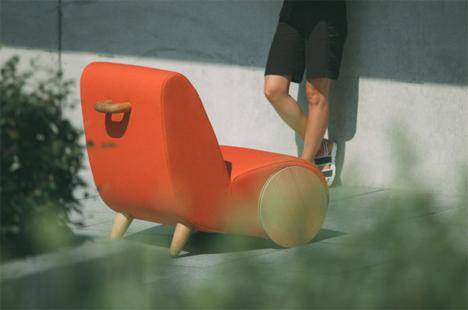 rapide wheeled handled lounge chair