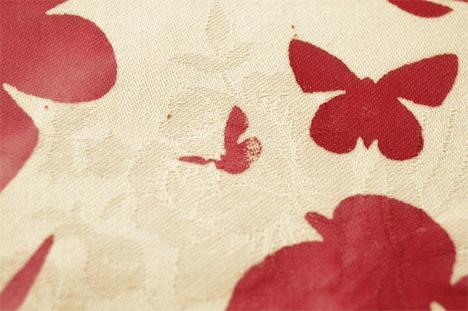 spill reveals hidden patterns on tablecloth