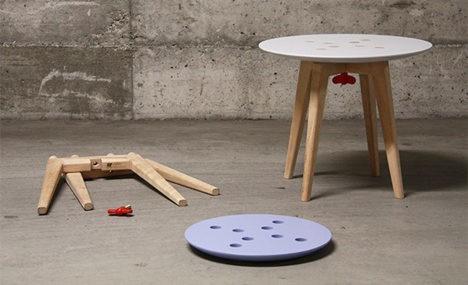 Excellent Stool Dornob Theyellowbook Wood Chair Design Ideas Theyellowbookinfo