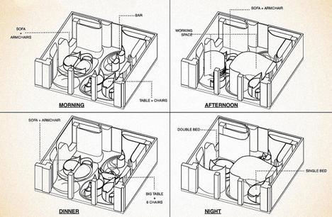 6 transforming multi purpose apartment interior