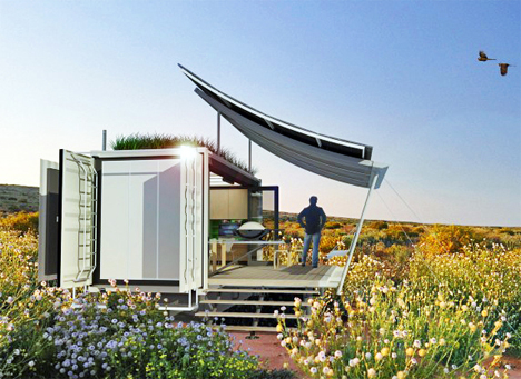 Shipping Container Home Blooms To 3x Its Original Size