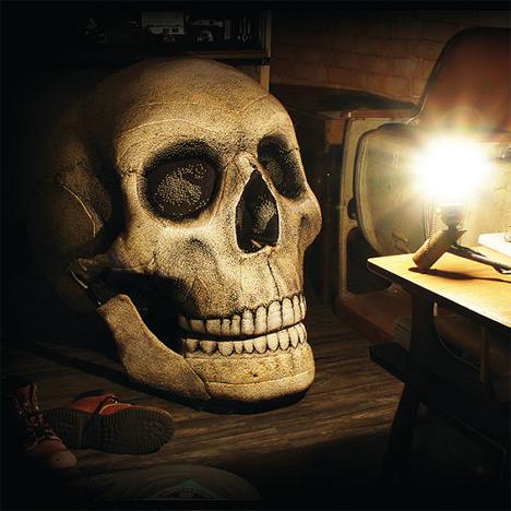 halloween skeleton skull chair