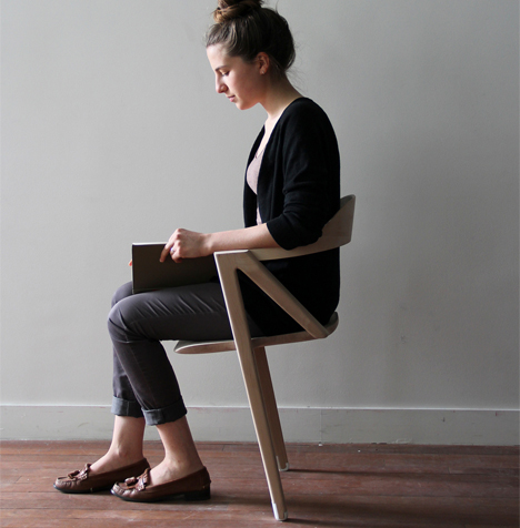 Two Legged Balancing Chair Keeps Muscles Engaged All Day