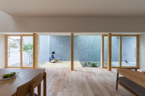 Indoor Outdoor Space Enclosed Walkway Gives Privacy Light