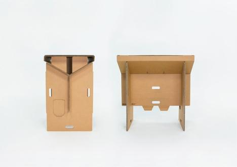 slim lightweight cardboard desk