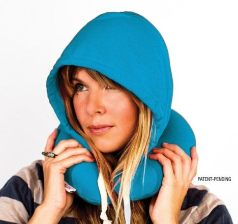 travel size hoodie pillow