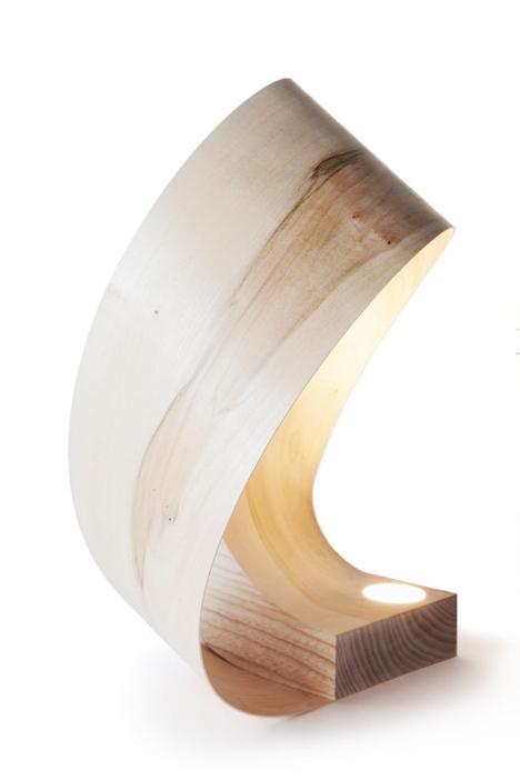 ash wood lamp milano