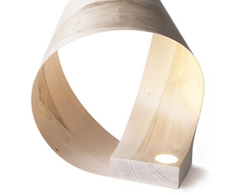 milano ash wood lamp