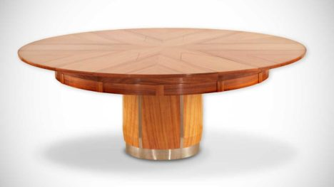 Furniture Meets Mechanical Engineering Round Expanding Table