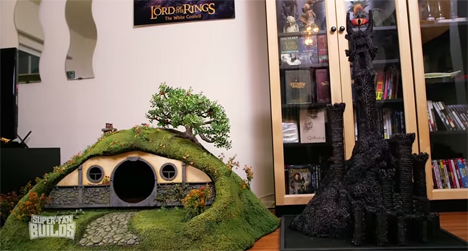 lotr litter box and eye of sauron scratching post