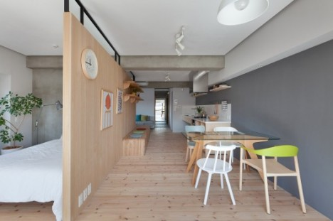 Modular Plywood Partition Makes The Most Of A Small Space