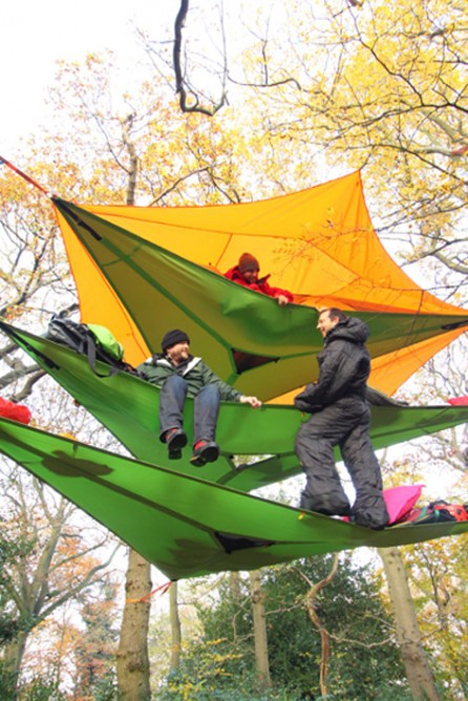 tentsile multi-story suspended treehouse tents