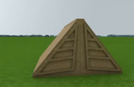triangular storm shelter