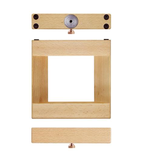wooden 360 rotating wall shelf