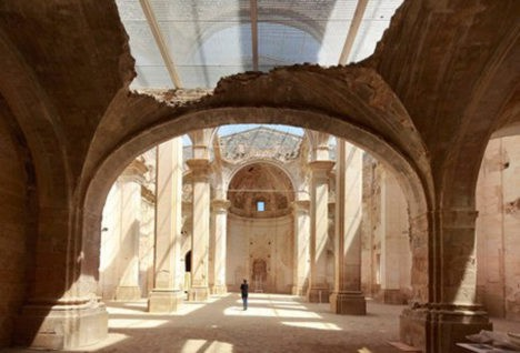 4 historic spanish church transparent skylight ceiling