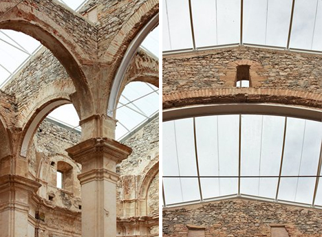 6 transparent roof church in spain