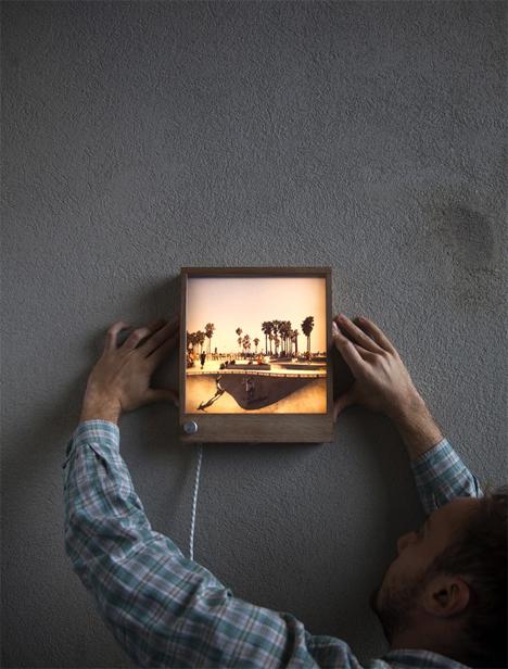 backlit led photo frame