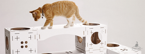 cardboard modular play set poopy cat
