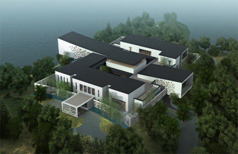 chinese 3d printed mansion