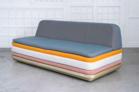 layered lounge chairs