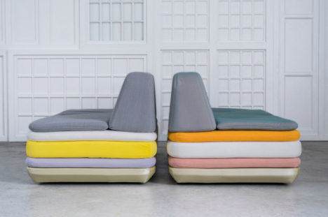 lounge chairs made of cushions