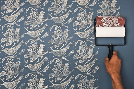 paint on wallpaper rollers