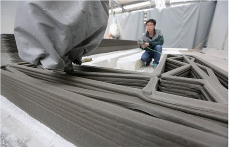 printing a recycled materials home in china