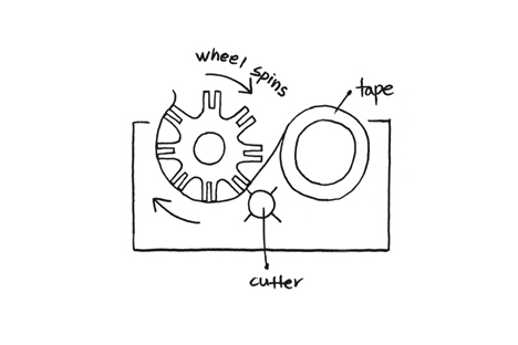 redesigned scotch tape dispenser