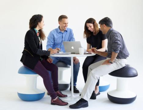 stool inspired by yoga ball exercise ball