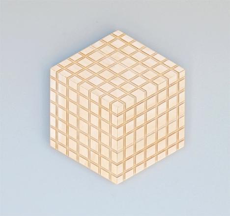birch grid wood tiles