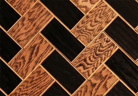 herringbone pattern wood tiles