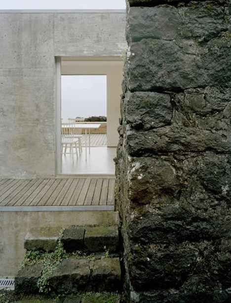 holiday home built on a ruin