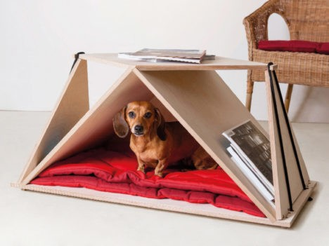 Modern Dog: Origami Coffee Table Doubles as a Pet Bed
