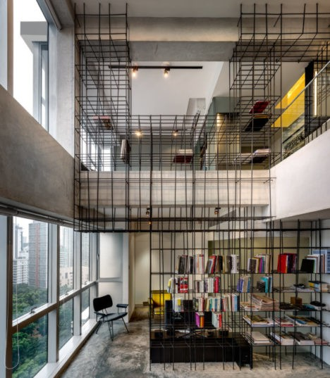produce workshop cage like apartment interior