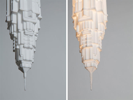 stalactite inspired lightbulb shades