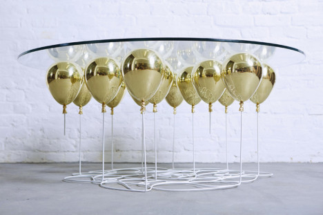 floating balloon coffee table