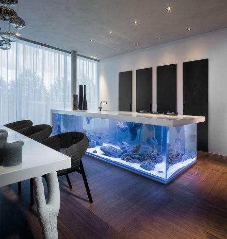 kitchen island aquarium 1