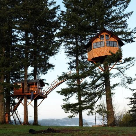 cinder cone double treehouse