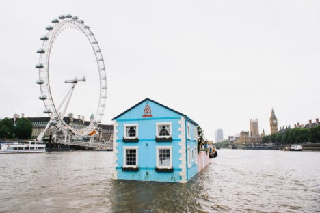 london airbnb floating house