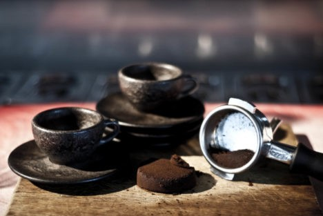 recycled coffee grounds cups