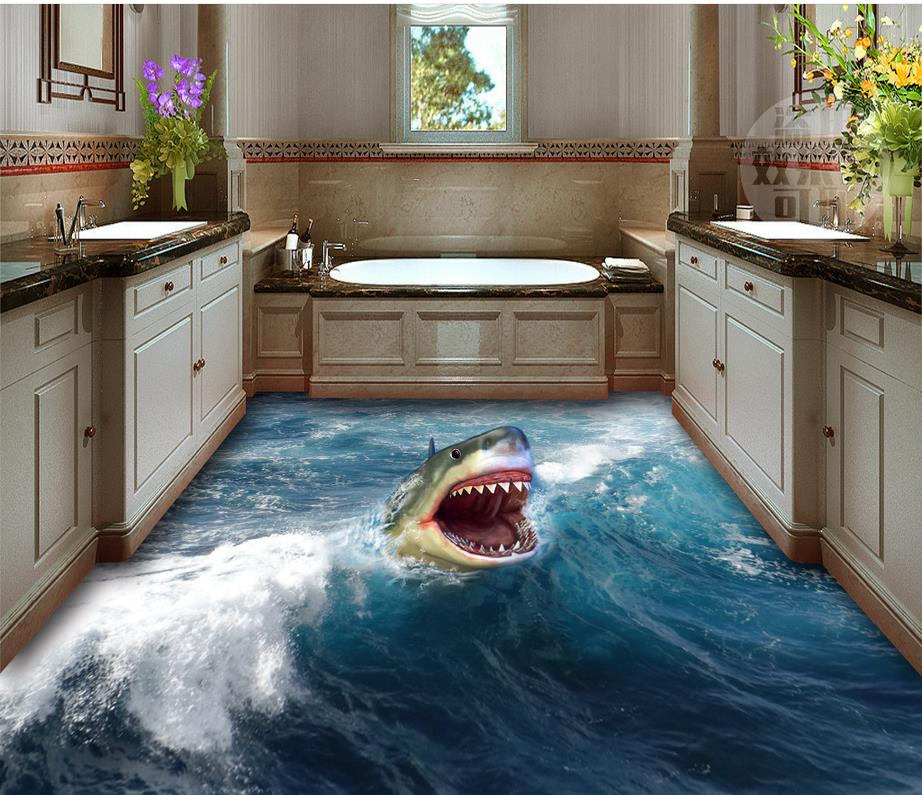 Shaaaark 3d Photorealistic Floor Decals Designs Ideas On Dornob