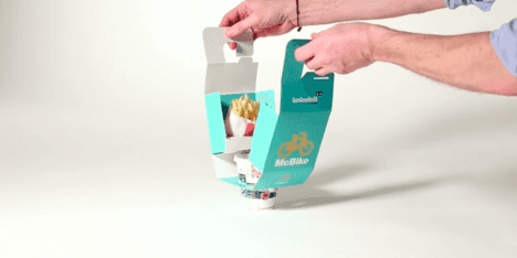 bike takeout packaging mcdonald's