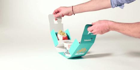 cardboard bicycle hanger fast food package