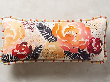 Watercolor Floral Pillow from Anthropologie